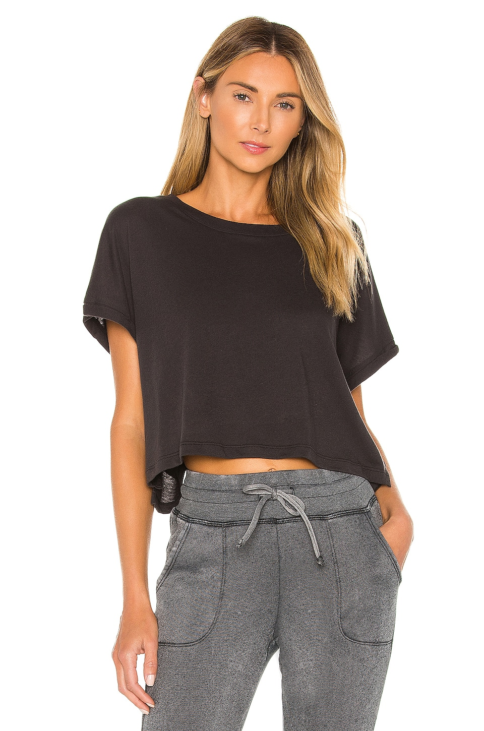 Beyond Yoga Never Been Boxy Tee in Black