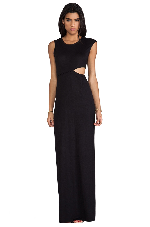 BCBGeneration Side Cutout Maxi Dress in Black