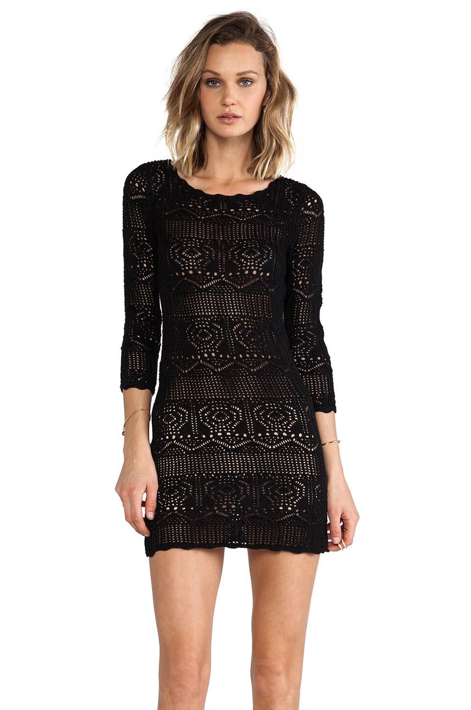 BCBGeneration Crochet Dress in Black