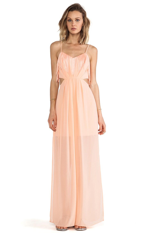 BCBGeneration Side Cutout Slit Dress in Nectar