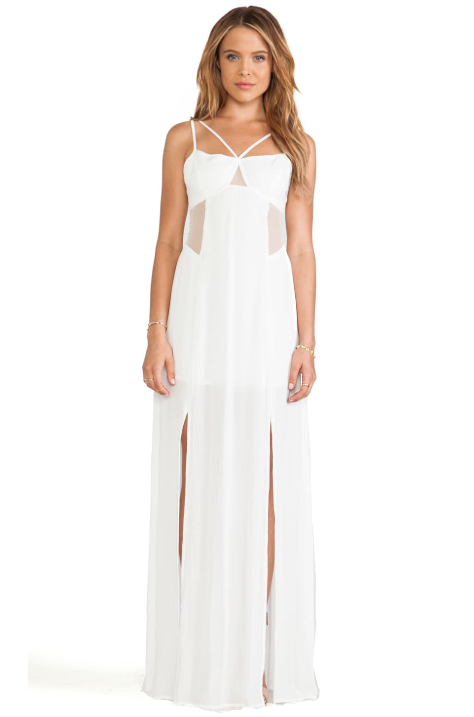 BCBGeneration Maxi Dress in Off White