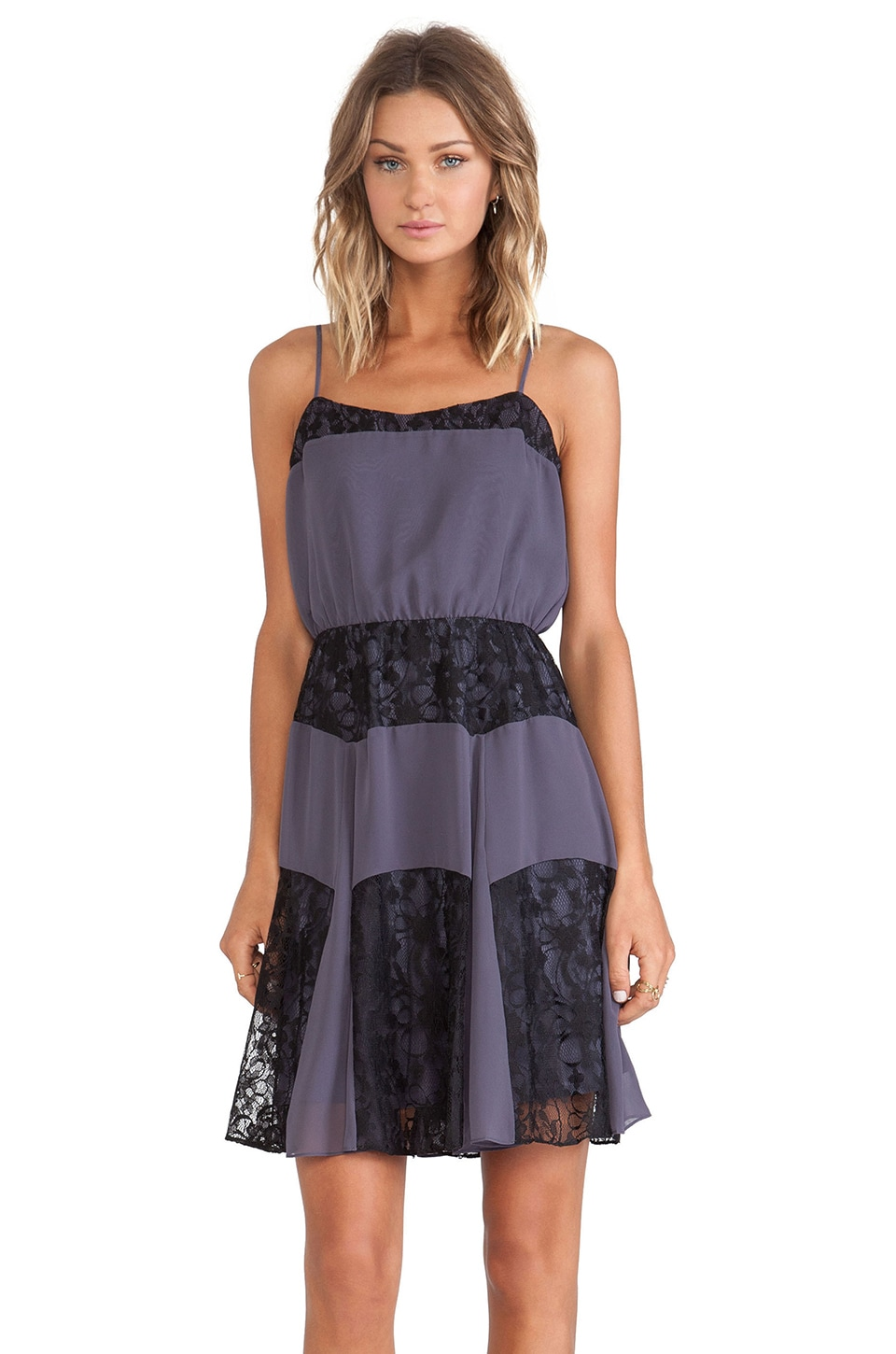 BCBGeneration Lace Cami Dress in Vapor