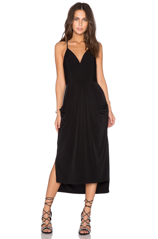 Bcbgeneration crossover midi dress black modesens for Midi shirt dress black