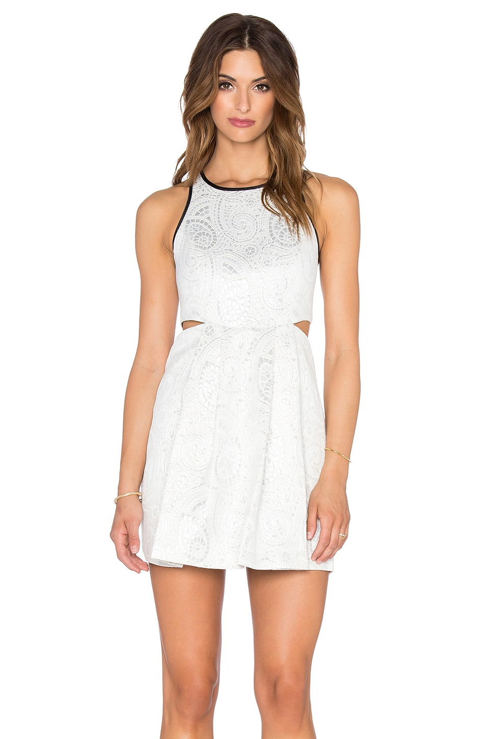 BCBGeneration Cut Out Mini Dress in Whisper