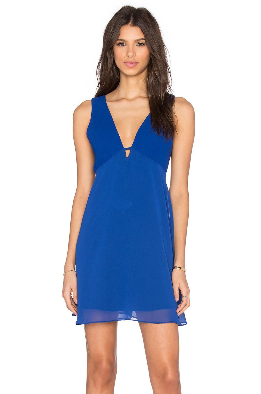 Deep V Fit & Flare Mini Dress