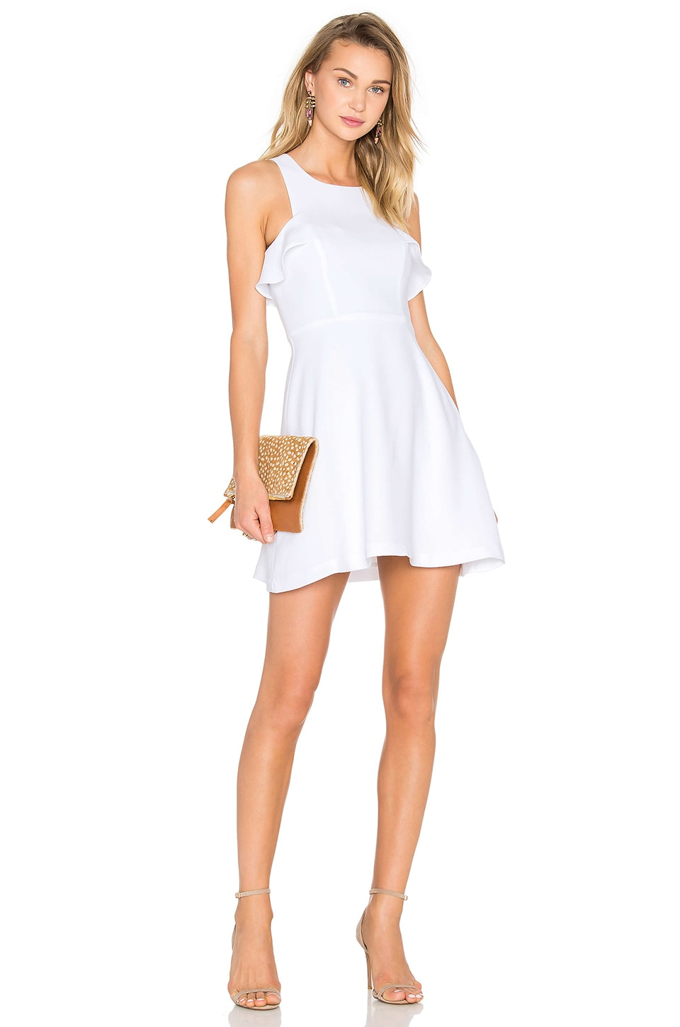 High Neck Ruffled Dress by BCBGeneration