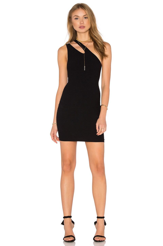 BCBGeneration Seamless One Shoulder Dress in Black