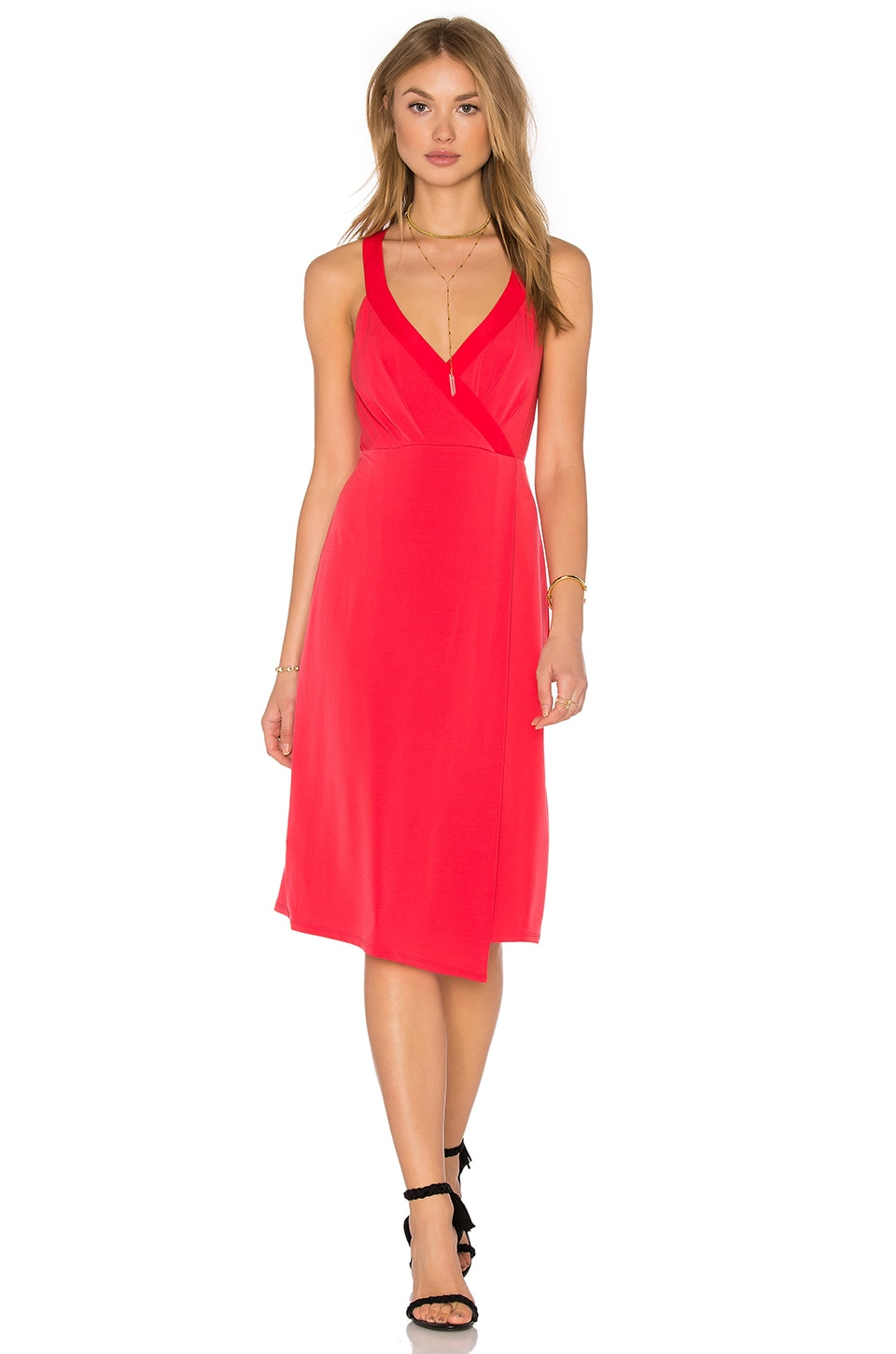 Drape Front Midi Dress by BCBGeneration