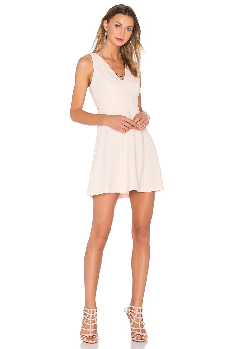 BCBGeneration Cocktail Halter Dress in Whisper Pink