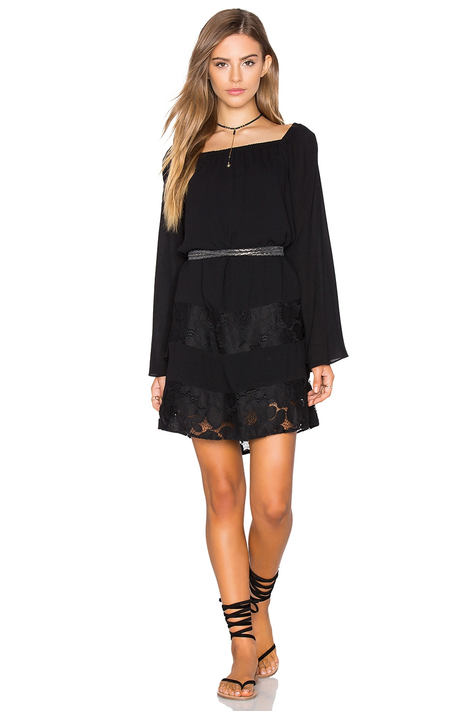 Off Shoulder Peasant Dress by BCBGeneration