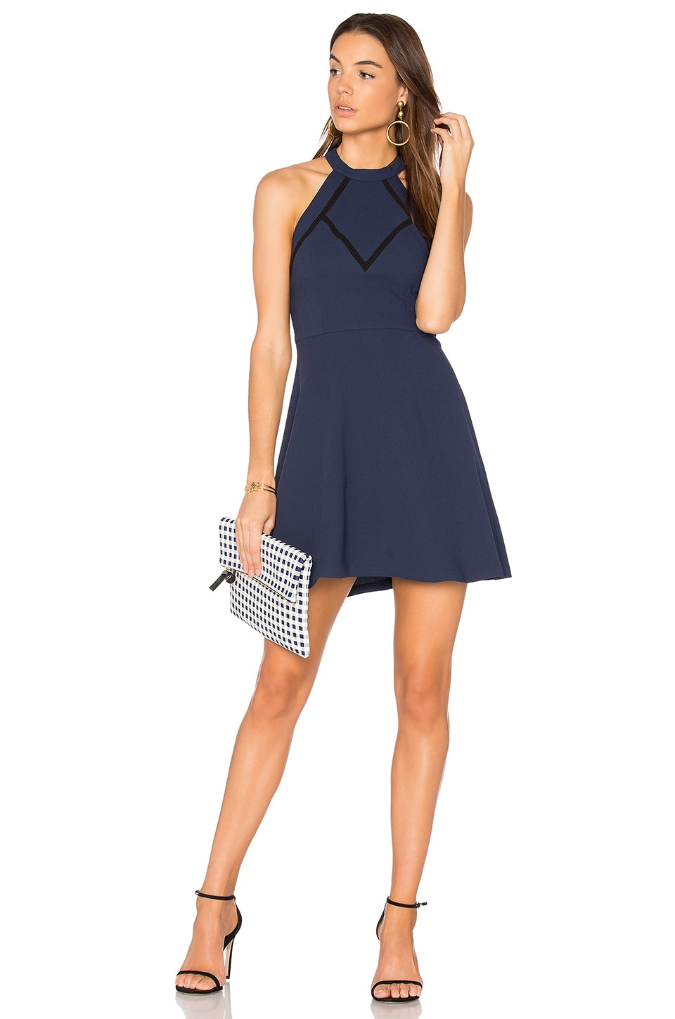 BCBGeneration Halter Dress in Dark Navy