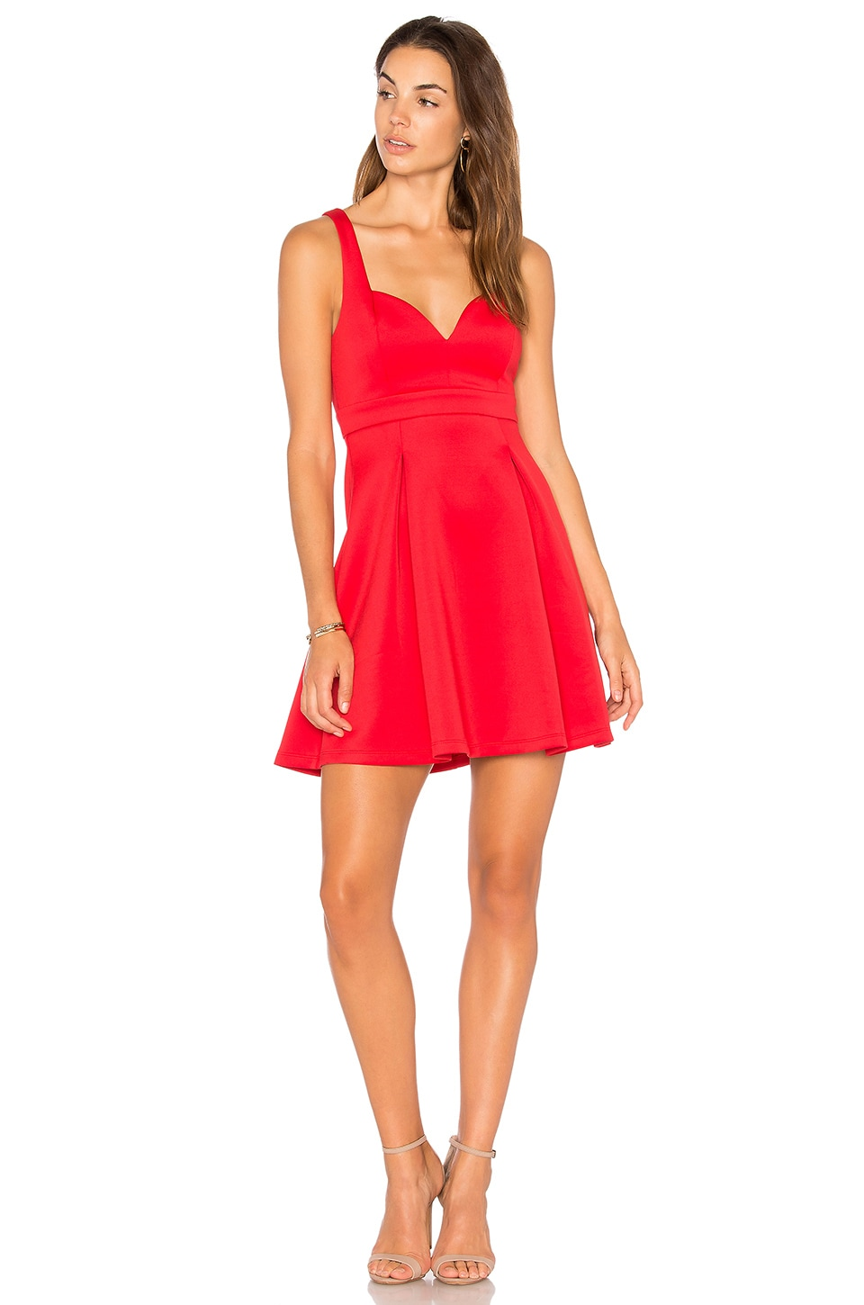 BCBGeneration Baby Doll Dress in Red Ginger