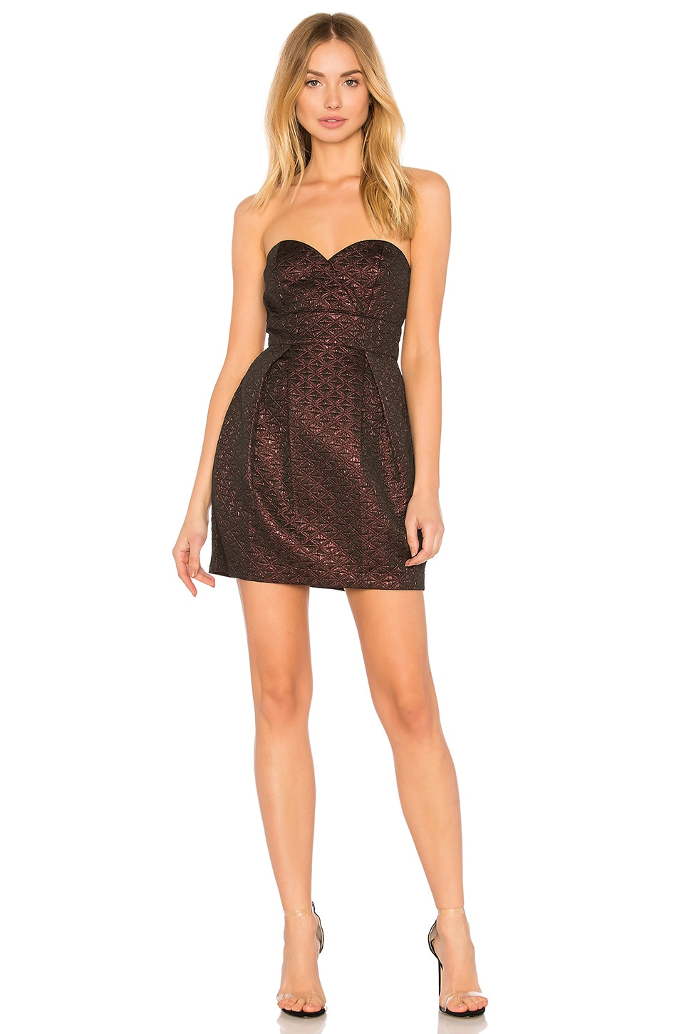 BCBGeneration Woven Cocktail Dress in Dusty Eggplant | REVOLVE