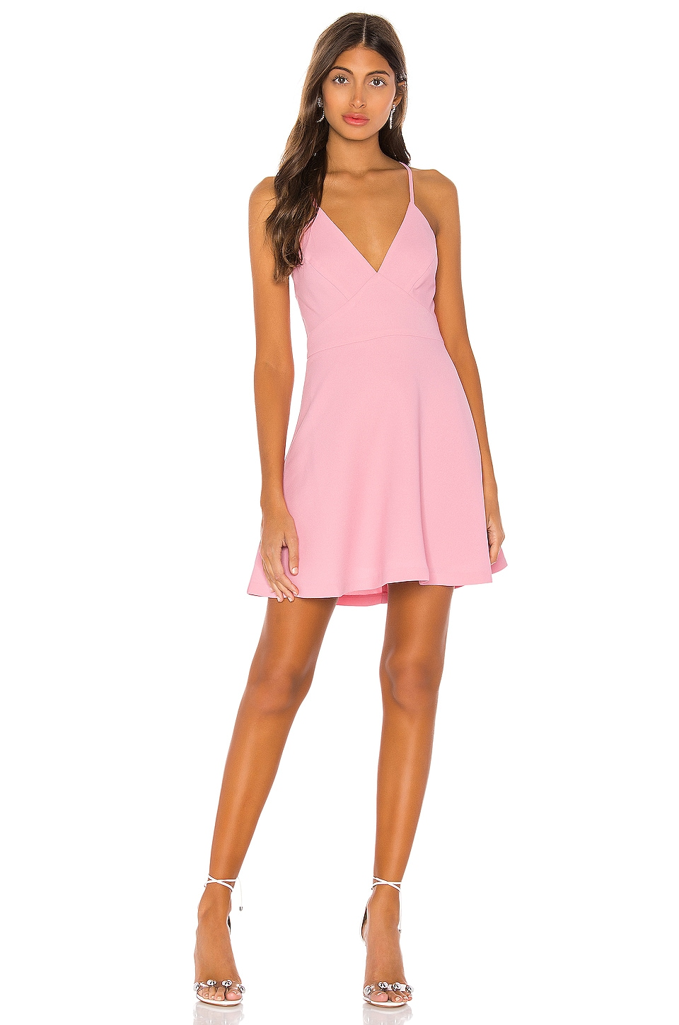 BCBGeneration Fit And Flare Mini Dress in Pink
