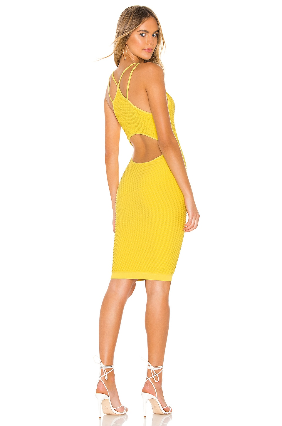 BCBGeneration Knit Midi Dress in Yellow