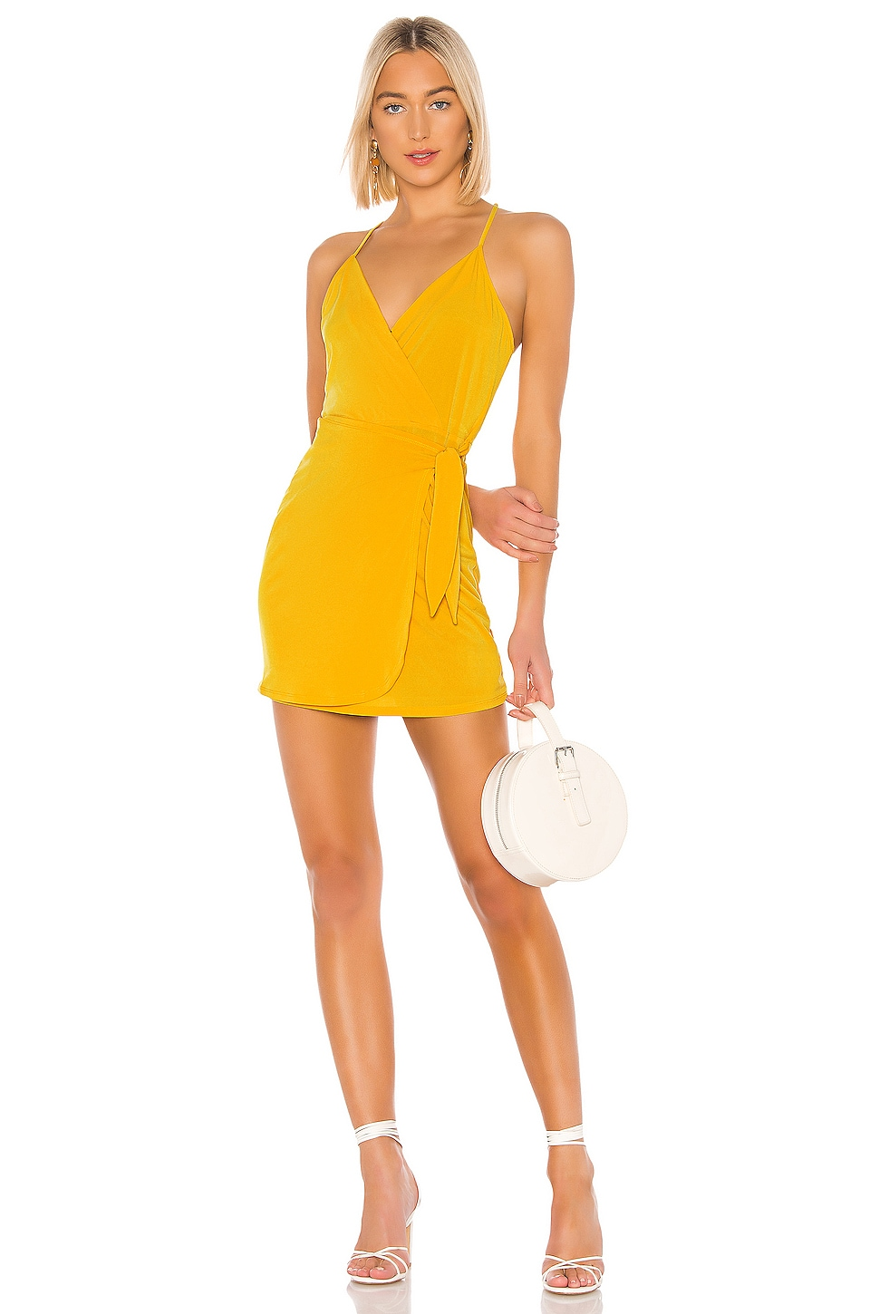 BCBGeneration Wrap Front Dress in Pineapple