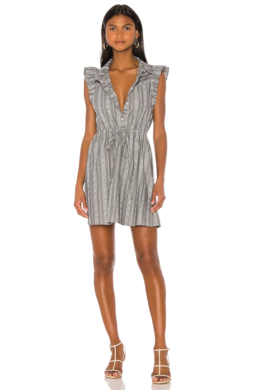 BCBGeneration Flutter Sleeve Dress in Grey