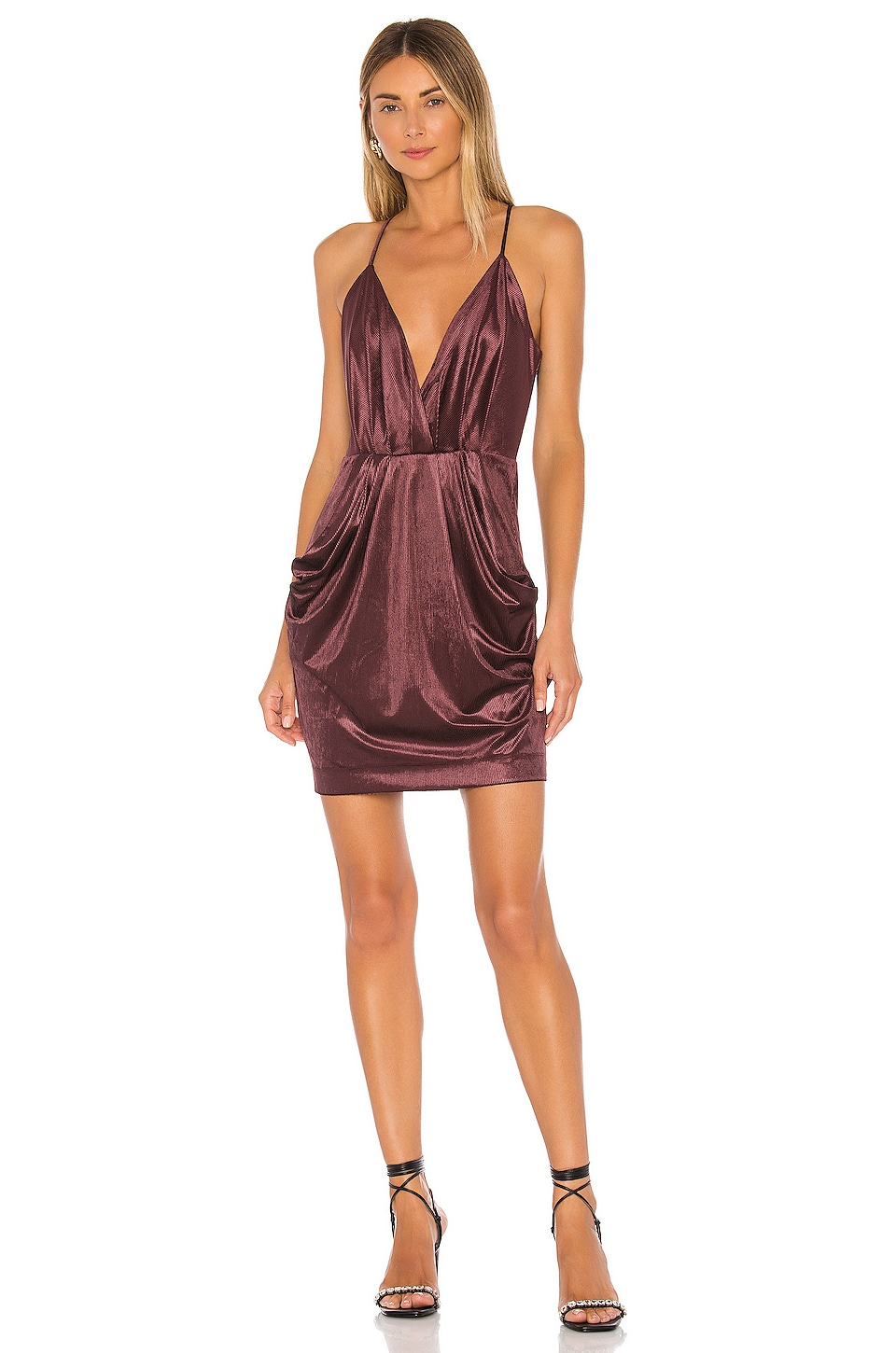 BCBGeneration Drape Pocket Cami Dress in Mahogany