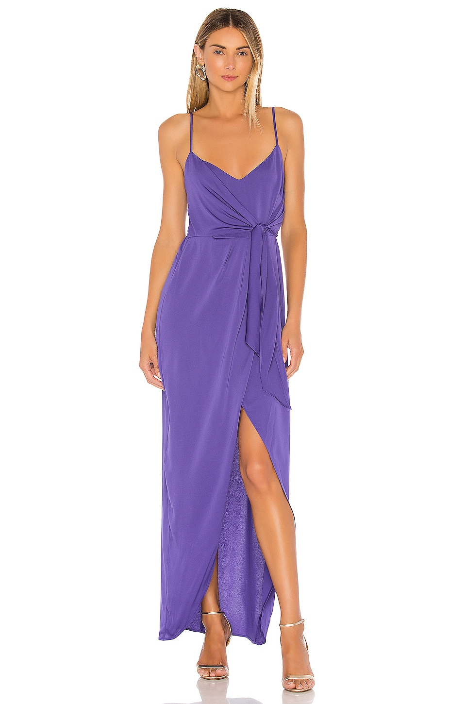 BCBGeneration Tie Wrap Maxi Dress in Blueberry