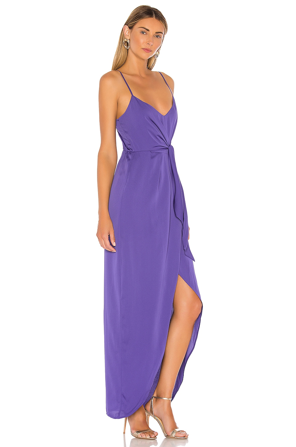 Tie Wrap Maxi Dress, view 2, click to view large image.