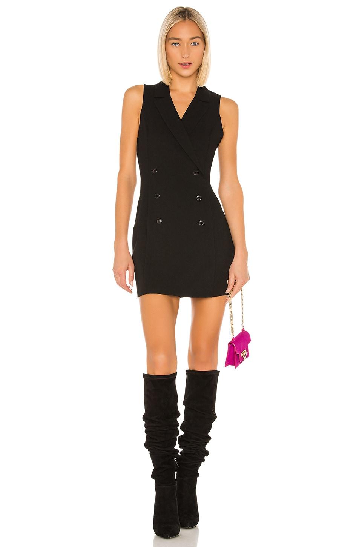 BCBGeneration Open Back Blazer Mini Dress in Black