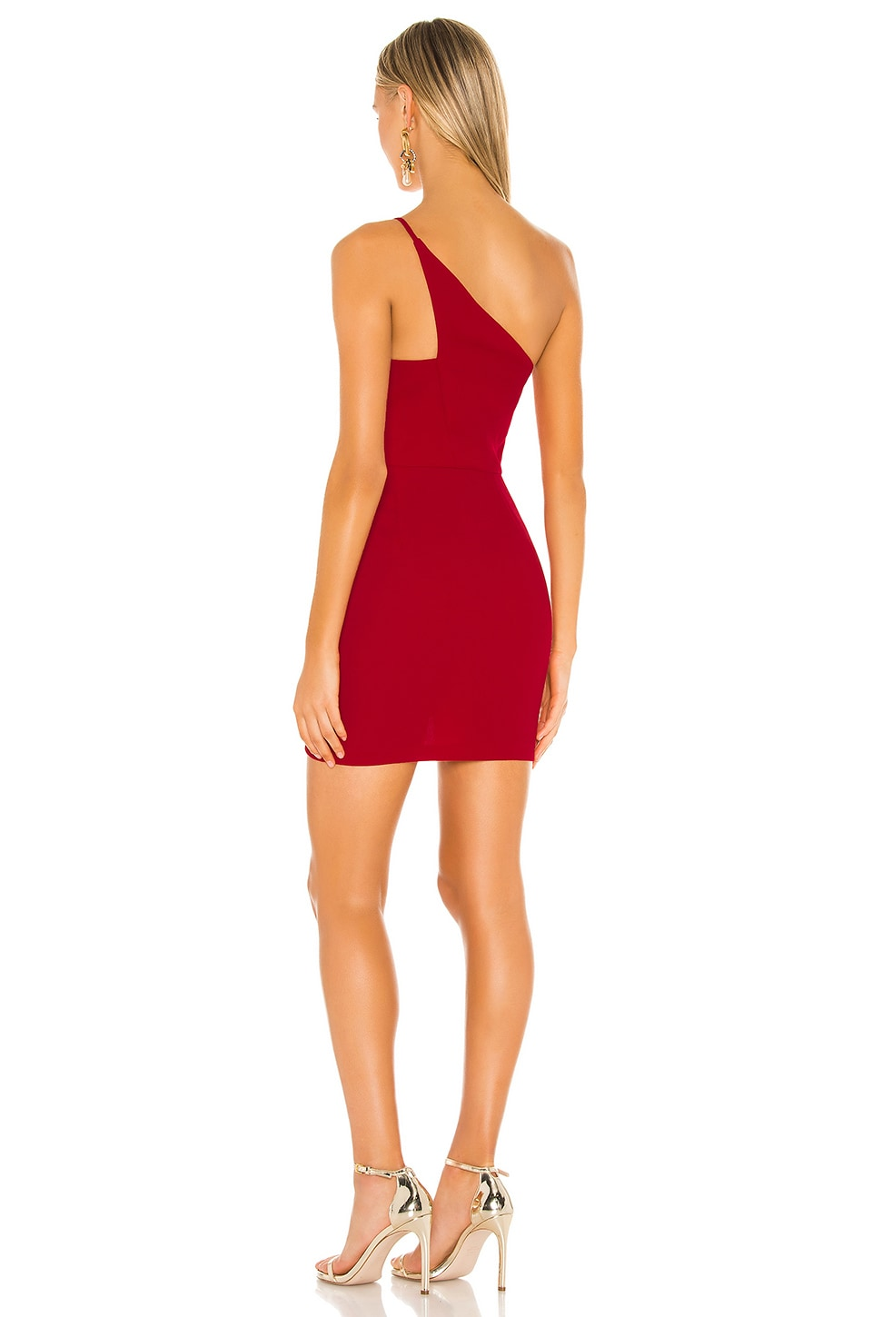 Cocktail One Shoulder Dress, view 3, click to view large image.