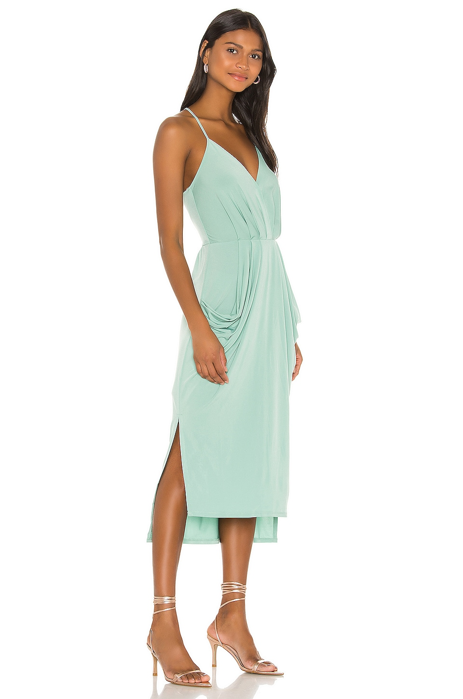Faux Wrap Midi Dress, view 2, click to view large image.
