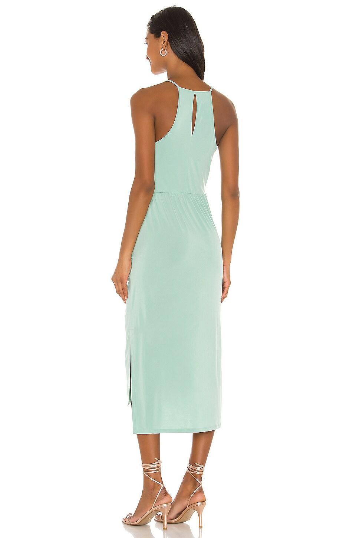 Faux Wrap Midi Dress, view 3, click to view large image.
