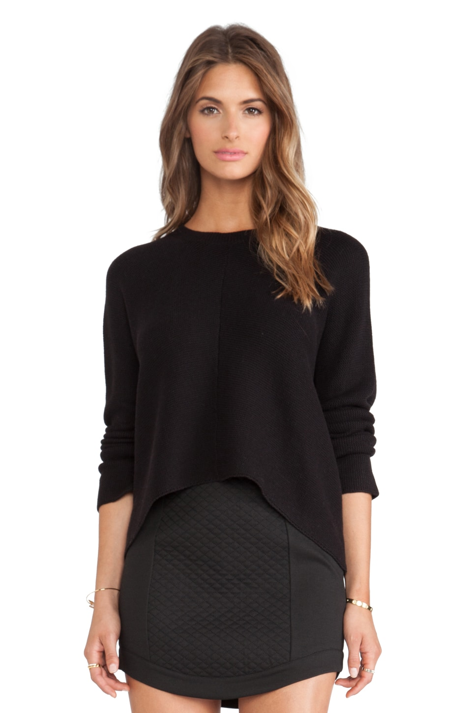 BCBGeneration Link Stitch Sweater in Black