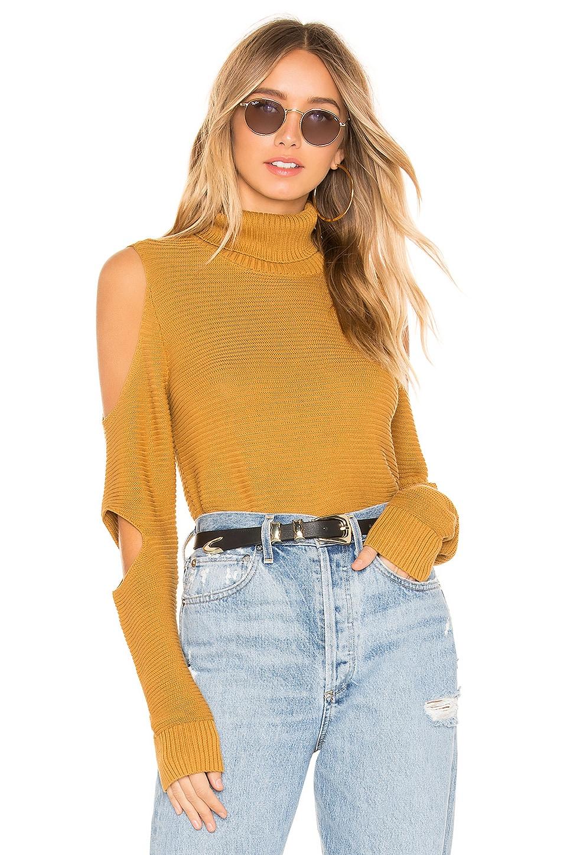 BCBGeneration Turtleneck Sweater in Gold Tan