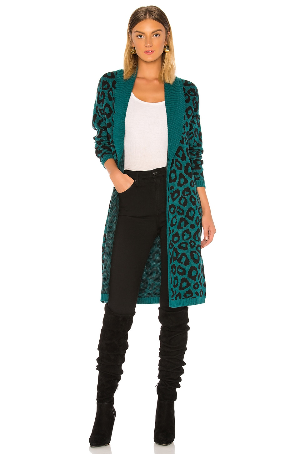 BCBGeneration Leopard Cardigan in Multi