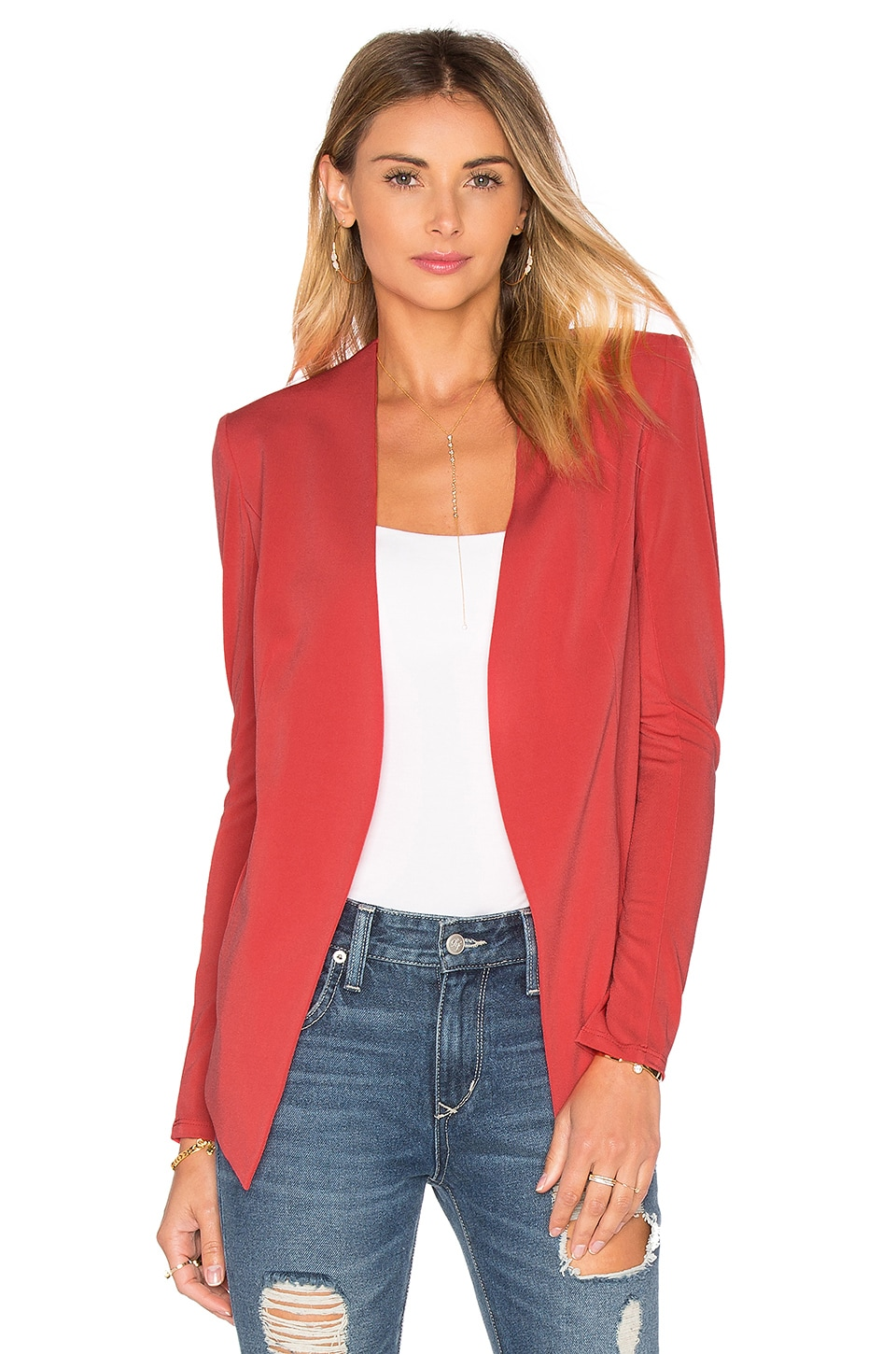 BCBGeneration Blazer in Bright Coral