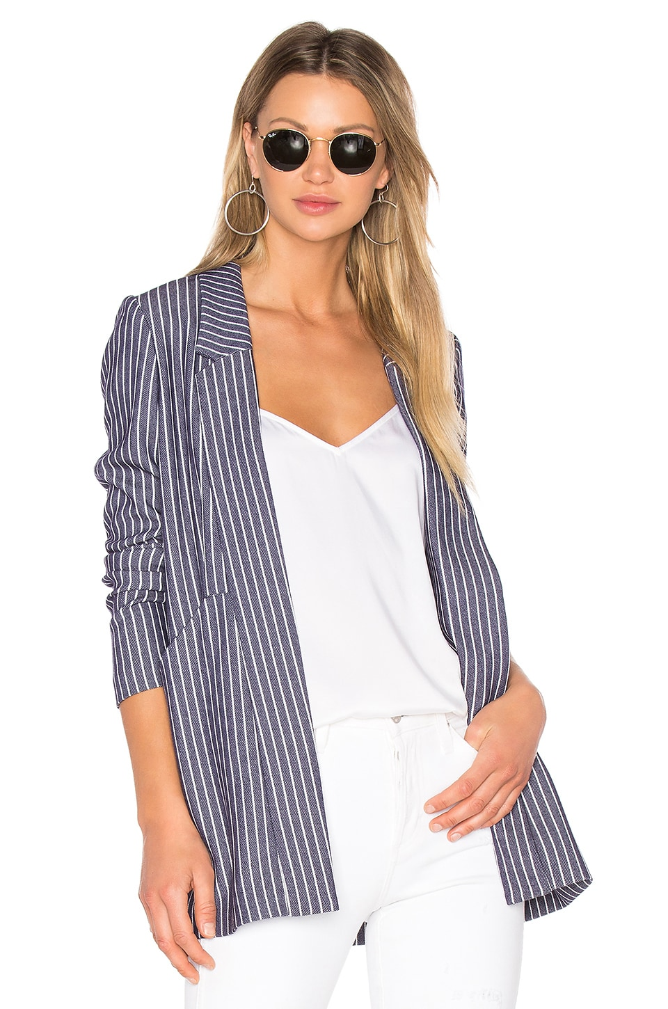 BCBGeneration Front Pocket Blazer in Indigo Combo