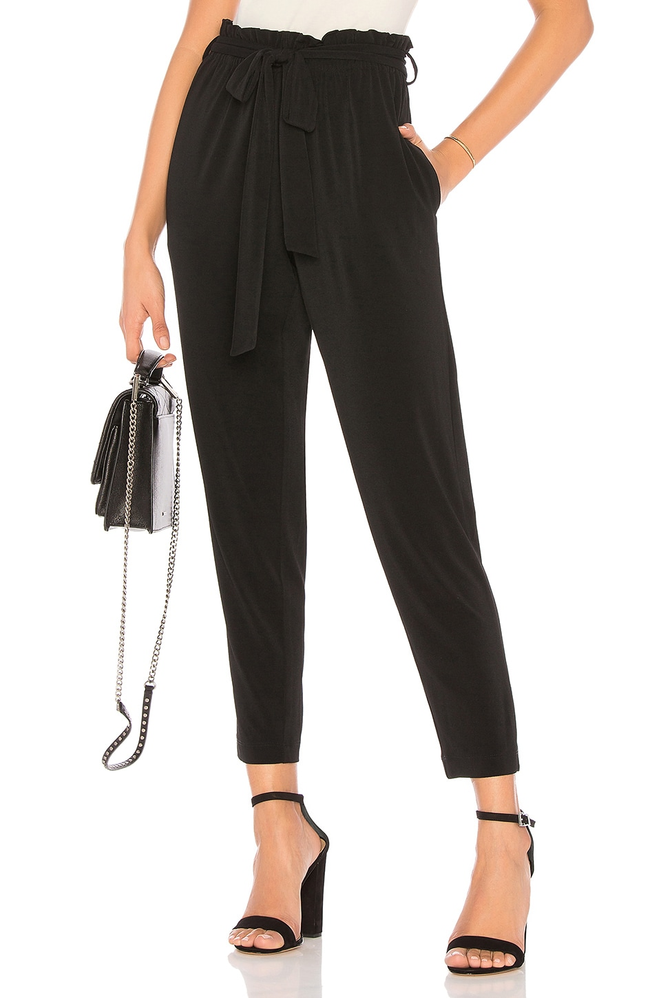 BCBGeneration Self Tie Pant in Black