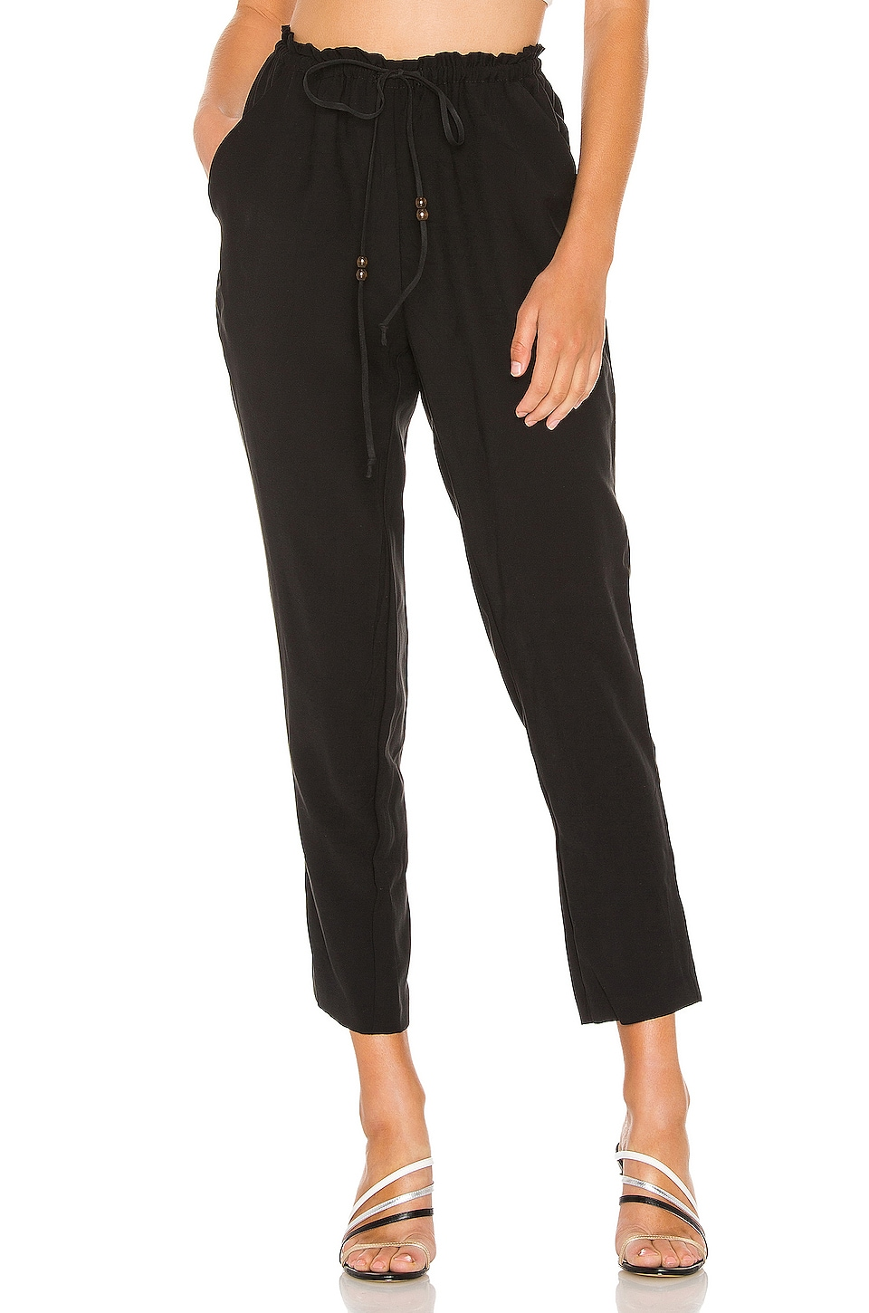 BCBGeneration Tie Front Jogger in Black
