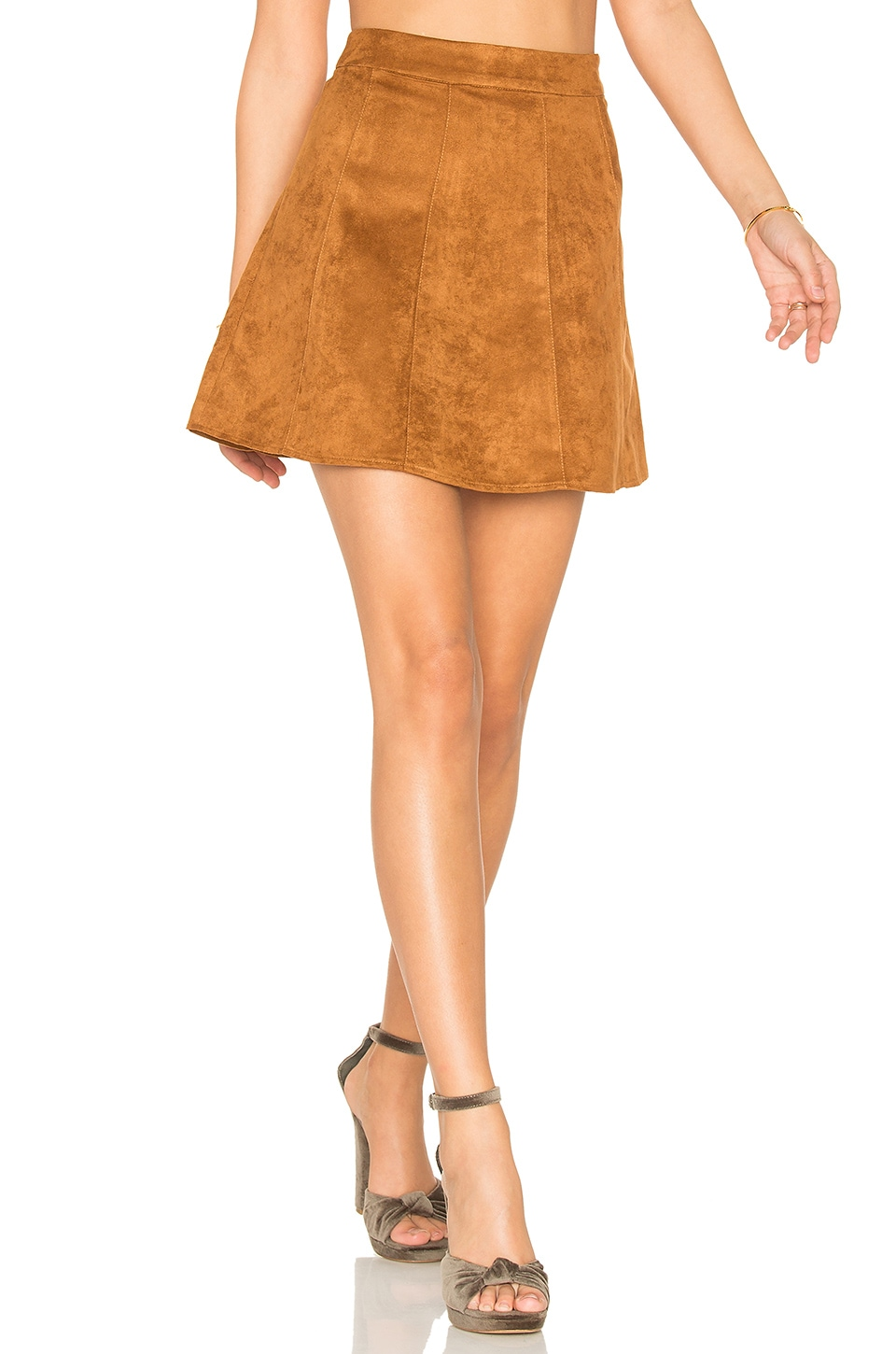 BCBGeneration A Line Skirt in Golden Cognac