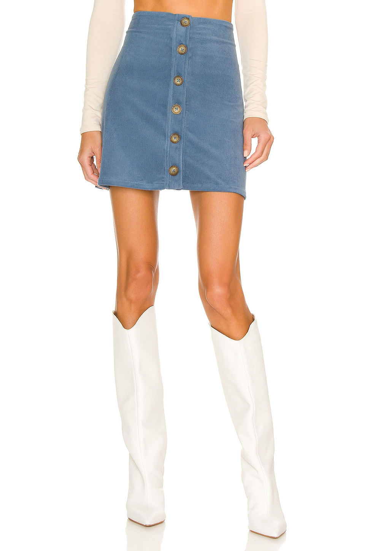 BCBGeneration Corduroy Mini Skirt in Night Blue