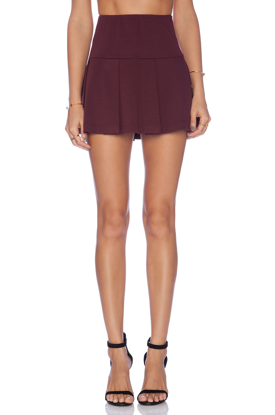 BCBGeneration Pleated Mini Skirt in Brulee | REVOLVE