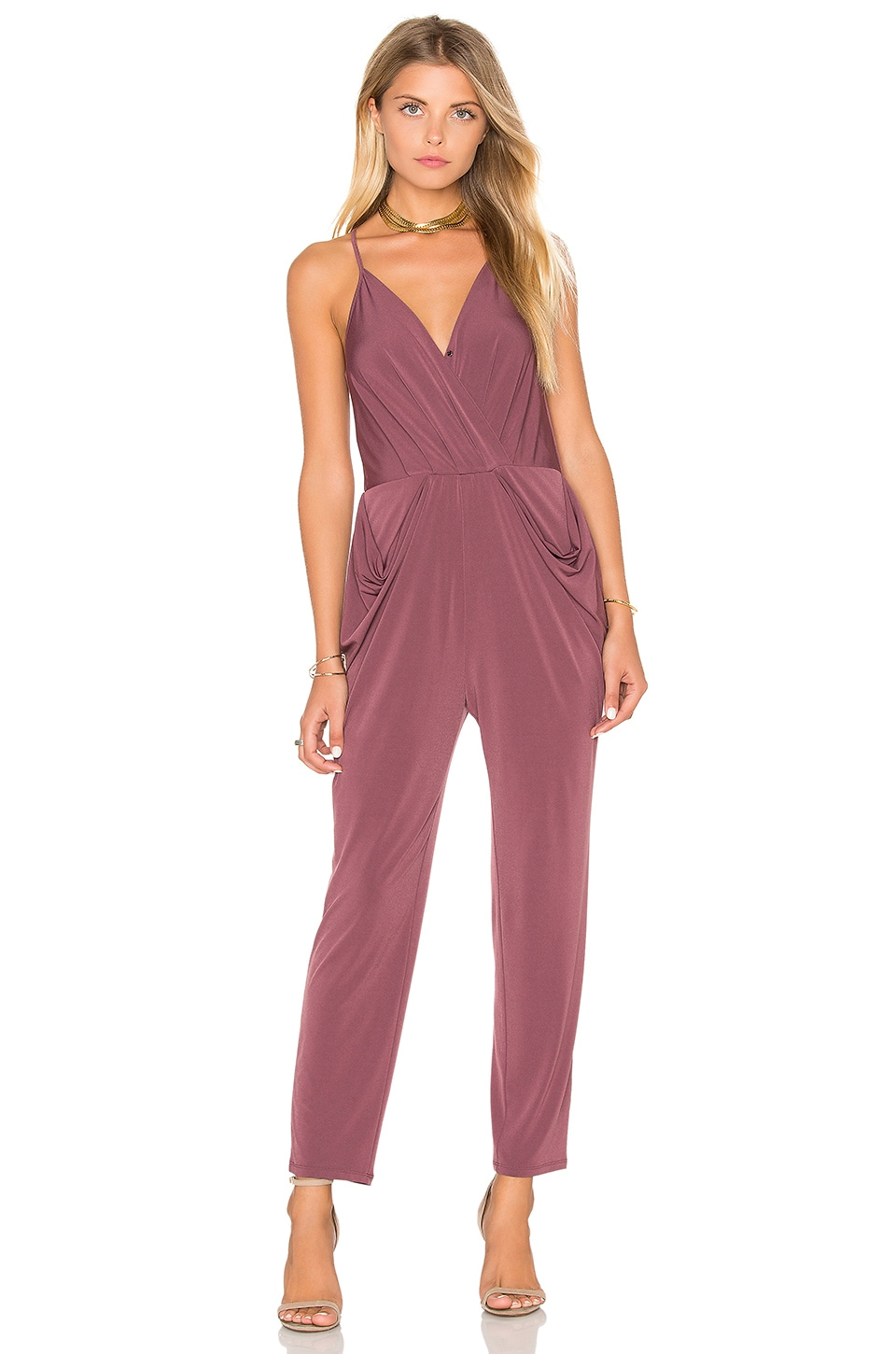 BCBGeneration Skinny Jumpsuit in Dusty Eggplant