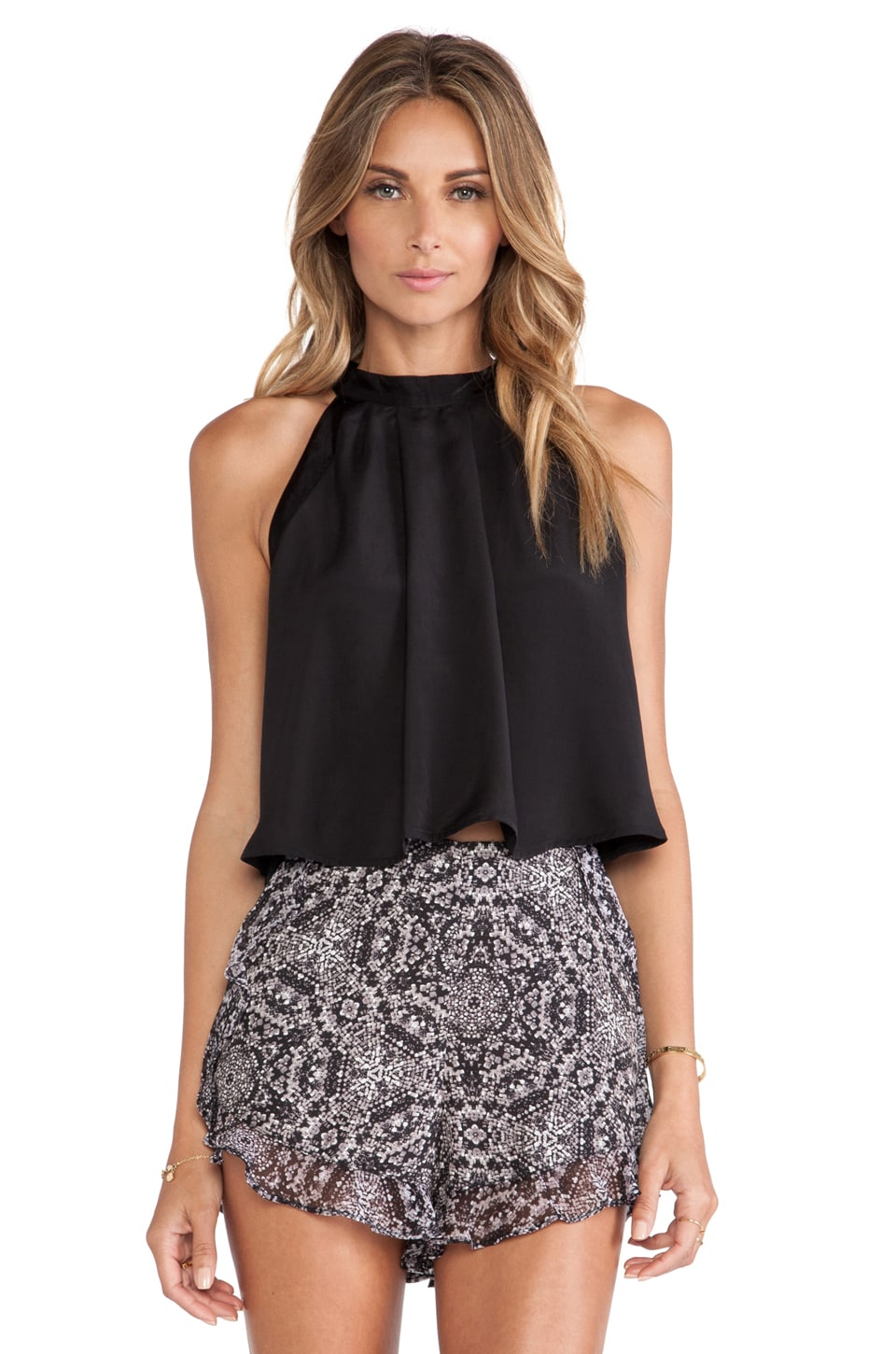 BCBGeneration Trapeze Top in Black