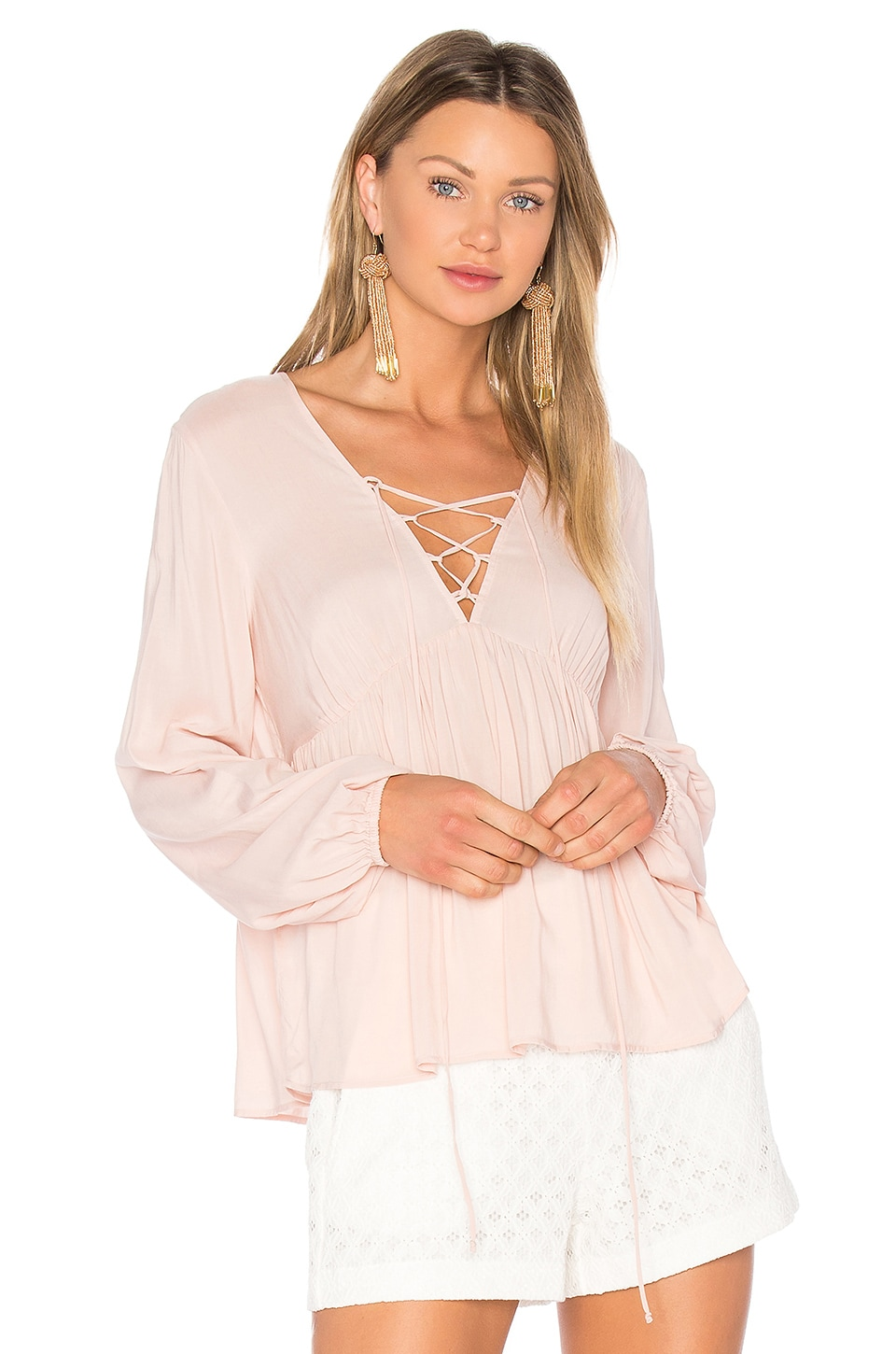 Lace Up Blouse by Bcbgeneration