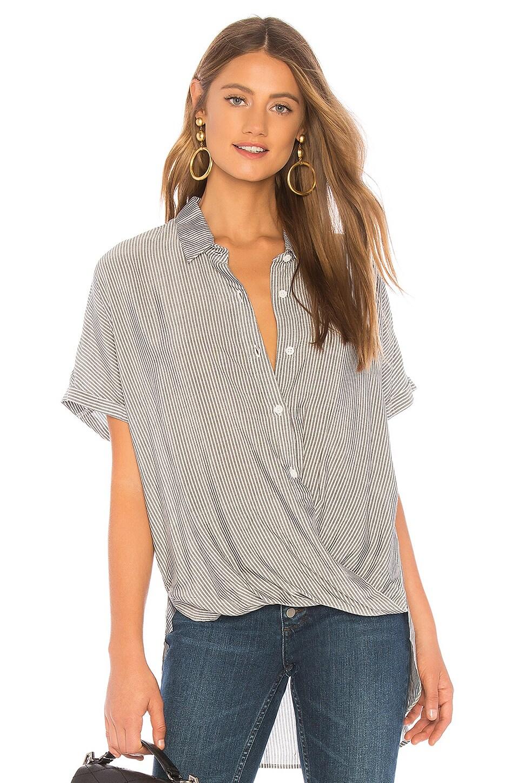 Wrap Hem Dolman Sleeve Shirt
