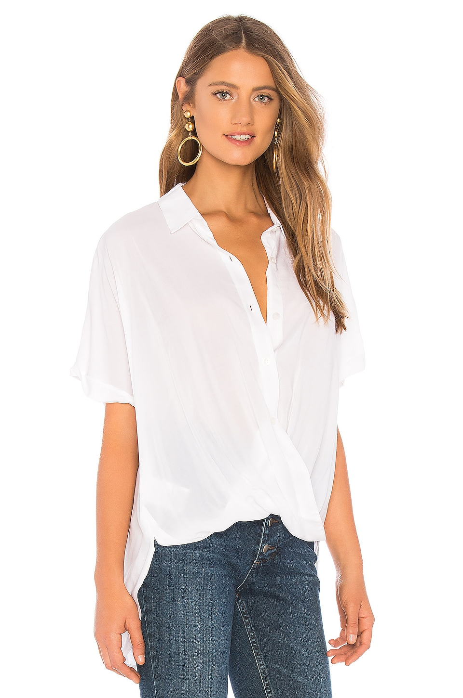 Wrap Hem Dolman Sleeve Shirt, view 2, click to view large image.