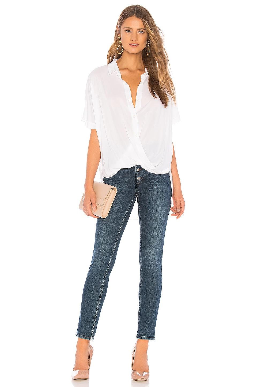 Wrap Hem Dolman Sleeve Shirt, view 4, click to view large image.