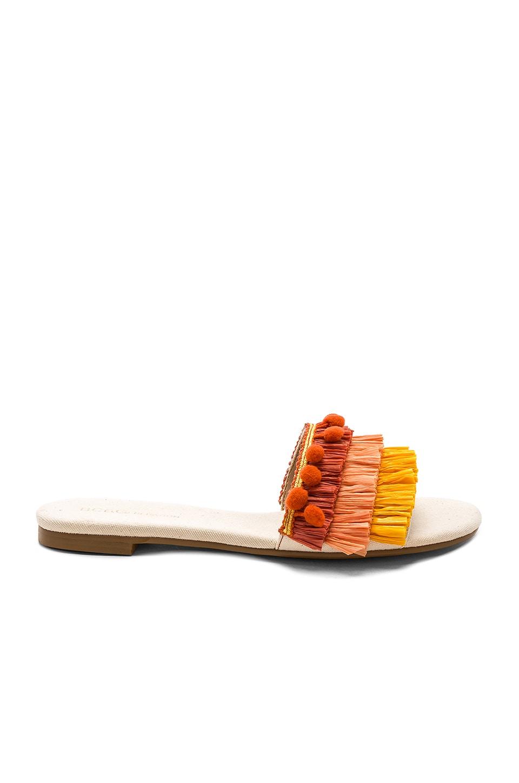 BCBGeneration Genna Sandal in Marigold & Persimmons & Rust