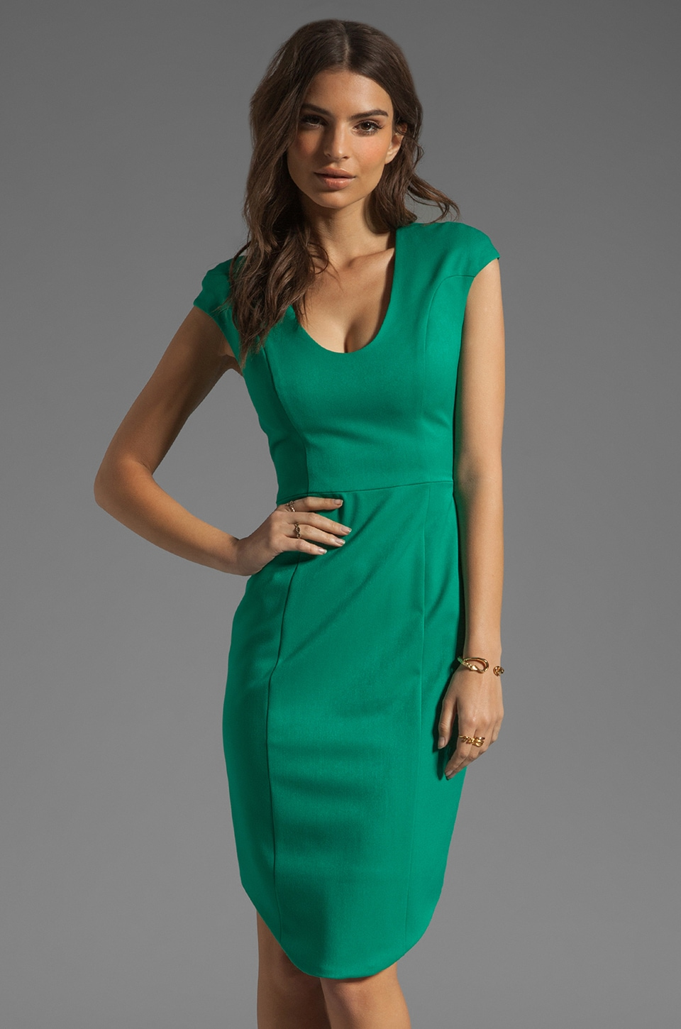 Black Halo Demetrio Dress in Shamrock