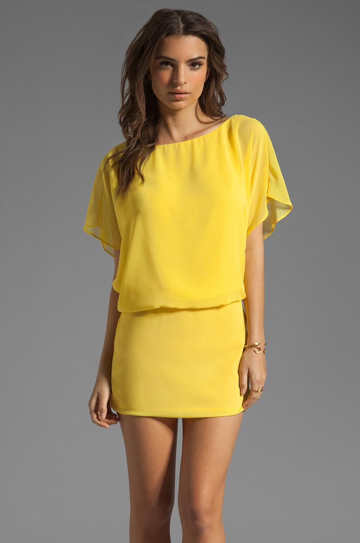 Black Halo Kiana Mini Dress in Sunflower