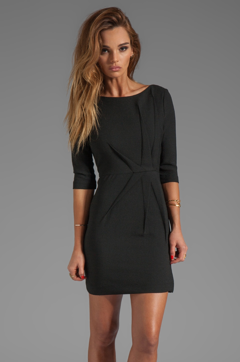 Black Halo Falcon Mini Dress in Black
