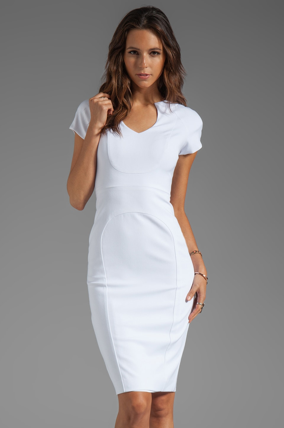 Black Halo Gypsy Rose Sheath Dress in White