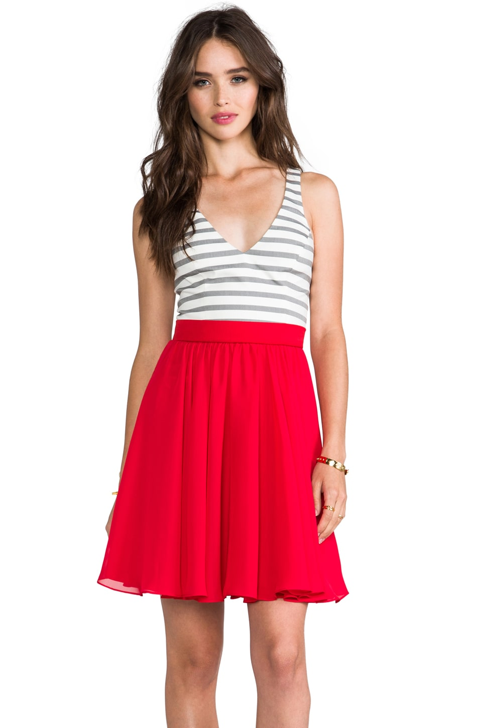 Black Halo Francis Mini in Cabana Stripe & Red